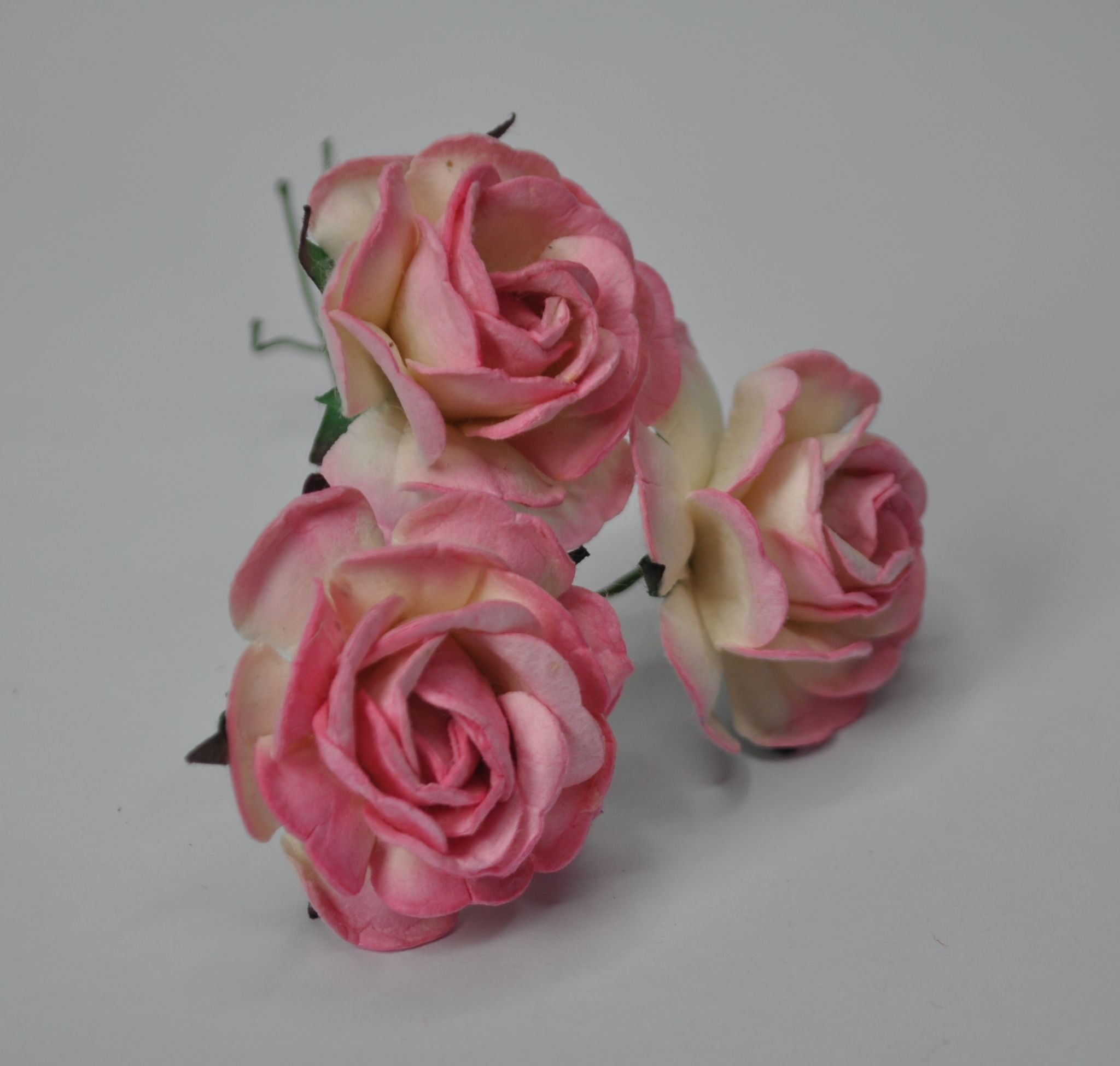 BABY PINK HYBRID TEA ROSES Mulberry Paper Roses